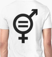 Equality - Merged Male and Female Gender Symbols Unisex T-Shirt