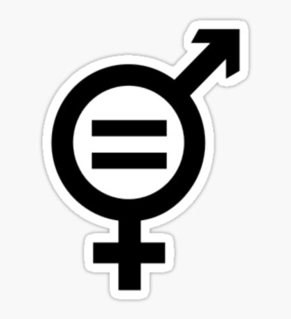 Equality - Merged Male and Female Gender Symbols Sticker