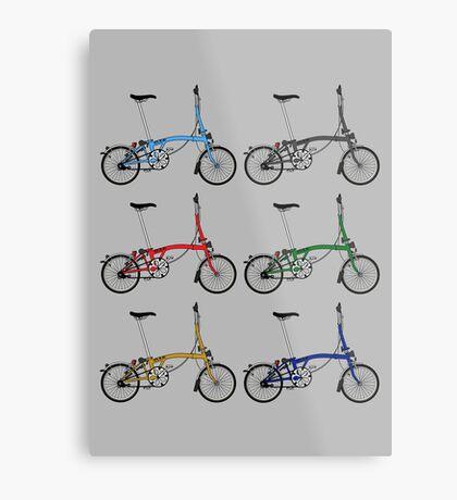 Brompton Bicycle Metal Print