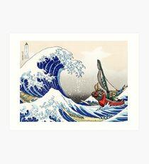 Legende von Zelda Great Wave Windwaker Kunstdruck