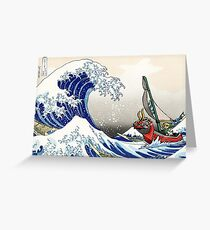 Legend of Zelda Great Wave Windwaker Greeting Card