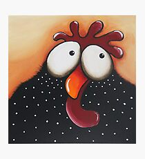 The odd chicken Photographic Print