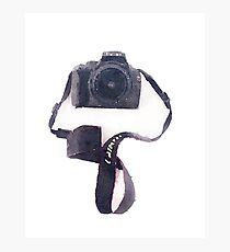Camera in Watercolor | Trendy/Tumblr/Hipster Meme Photographic Print