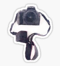 Camera in Watercolor   Trendy/Tumblr/Hipster Meme Sticker