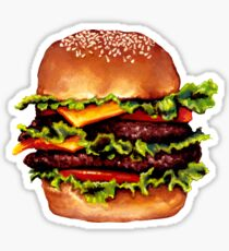 Double Cheeseburger 2 Pattern Sticker