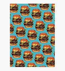 Double Cheeseburger 2 Pattern Photographic Print