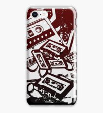 Retro Audio Tape (Wine/black) iPhone Case/Skin