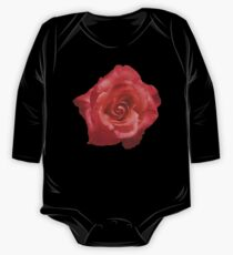 Ombré Red Garden Rose III - Hipster/Pretty/Trendy Flowers One Piece - Long Sleeve