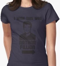 I Wish This Was Nathan Fillion Womens Fitted T-Shirt