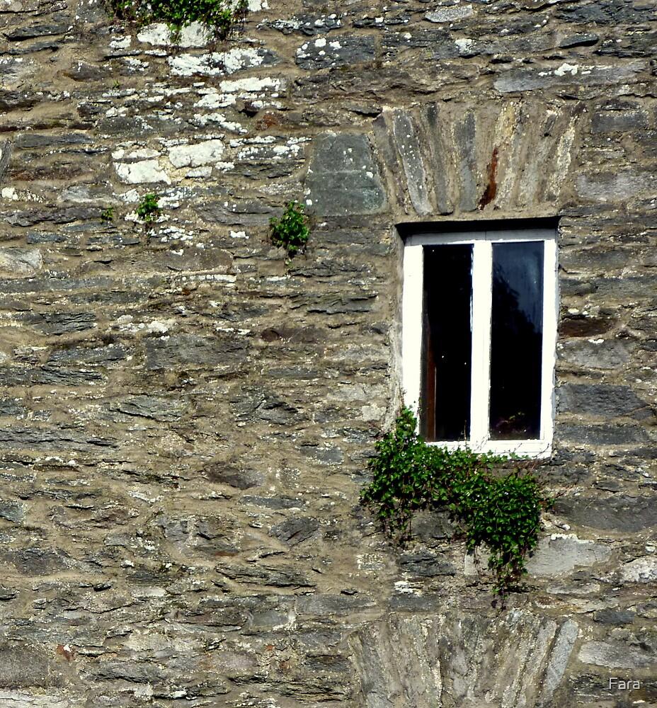Stone Wall With Window by Fara