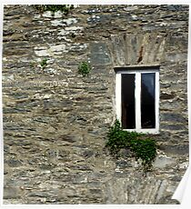 Stone Wall With Window Poster