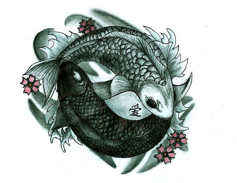 Koi fish yin and yang by chloeosity redbubble for Koi fish gifts