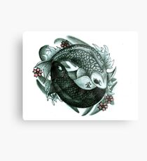 Koi fish yin and yang Metal Print