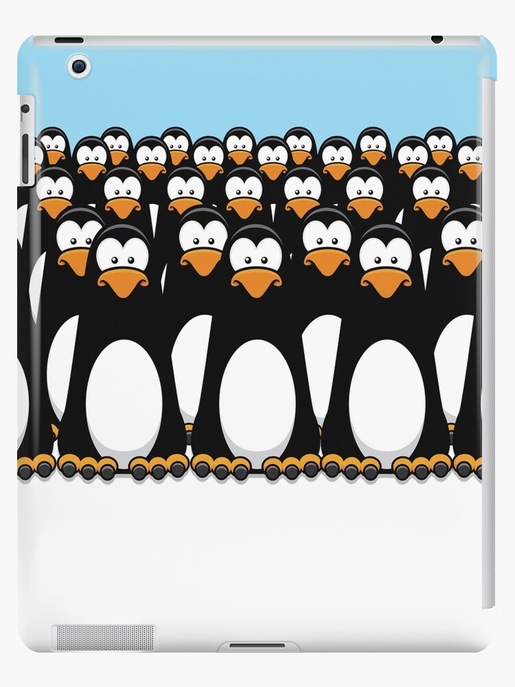 Pensive Penguin Army by Lisa Marie Robinson