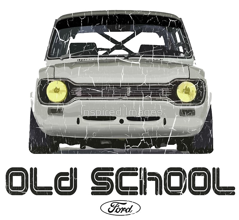 Classic Ford Escort MK1 Old School Distressed T-Shirt\