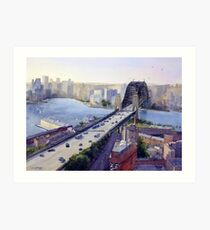 Sydney Harbour to the West Art Print