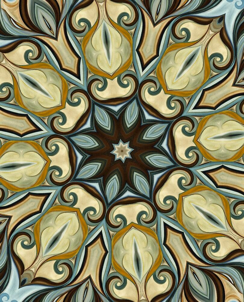 Baroque Blue Rosette- R007 by Heidivaught