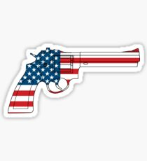 USA Gun Sticker