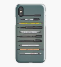 Pen Collection For Sketching And Drawing (Plain) iPhone Case/Skin