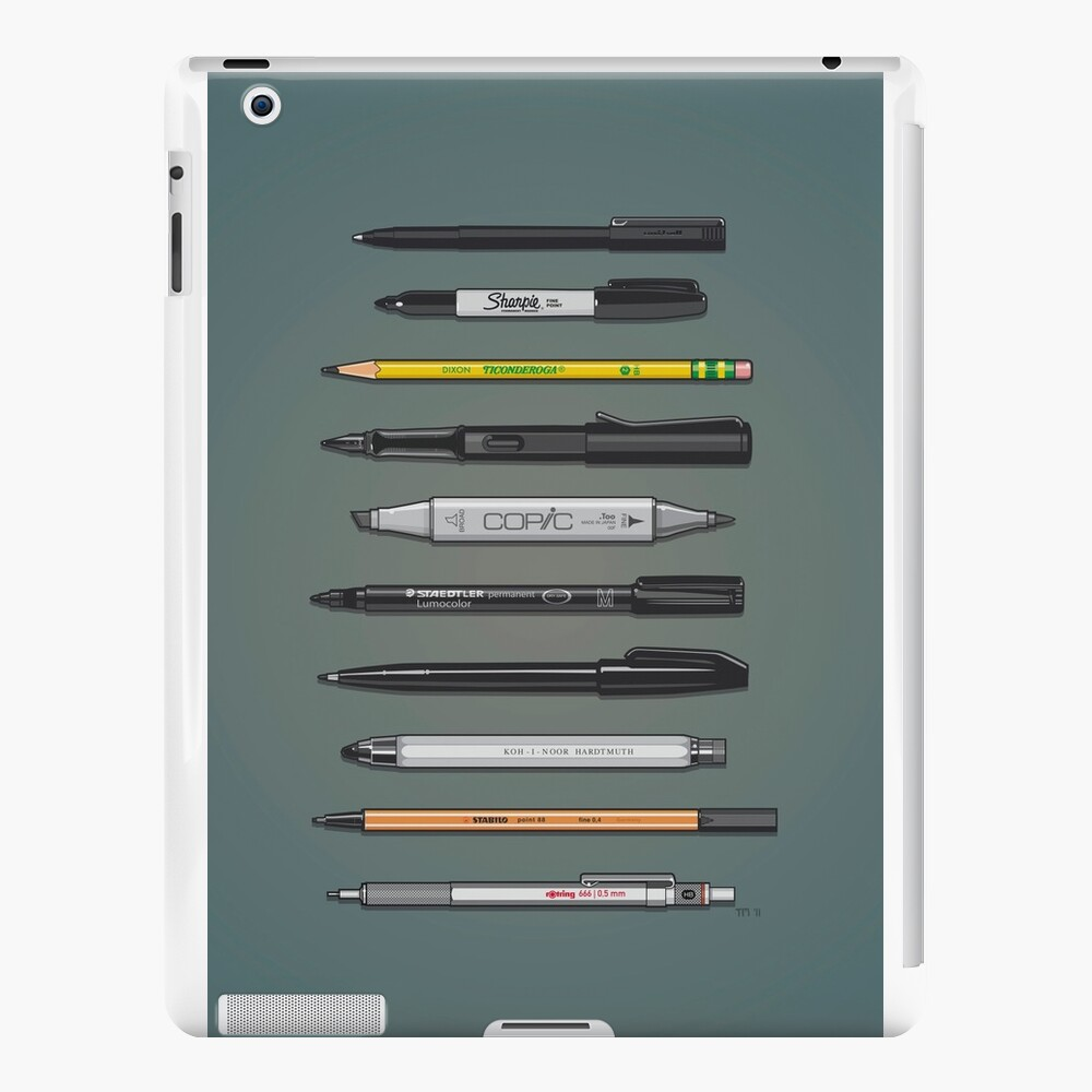 Pen Collection For Sketching And Drawing (Plain) iPad Cases & Skins