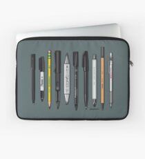 Pen Collection For Sketching And Drawing (Plain) Laptop Sleeve