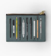 Pen Collection For Sketching And Drawing (Plain) Zipper Pouch