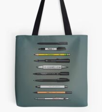 Pen Collection For Sketching And Drawing (Plain) Tote Bag