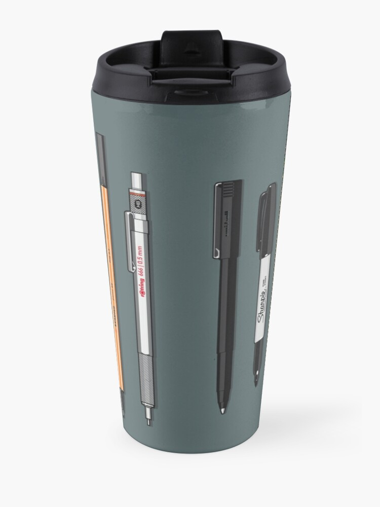 Alternate view of Pen Collection For Sketching And Drawing (Plain) Travel Mug