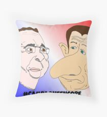 News Options Binaires Caricature Hollande et Sarkozy Throw Pillow