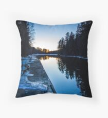 Blueness Throw Pillow