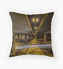 Whooshing By Throw Pillow