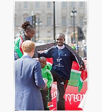 London Marathon Winners with Prince Harry Poster