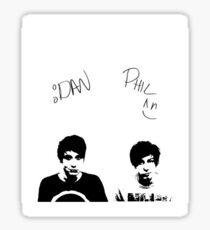 Dan and Phil Black and White Sticker