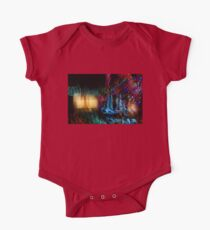 Abstract Christmas Lights - Color Twists and Swirls  One Piece - Short Sleeve