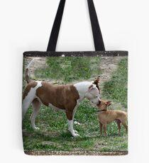 Pitbull meets Chihuahua  Tote Bag