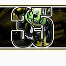 Cal Crutchlow - Monster Tech 3 Yamaha T-Shirt by quigonjim