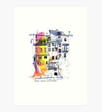 Maisons Suspendu, Pont-en-Royans, France Art Print