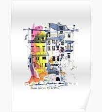 Maisons Suspendu, Pont-en-Royans, France Poster