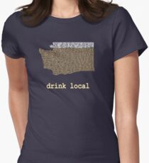 Drink Local - Washington Beer Shirt Womens Fitted T-Shirt