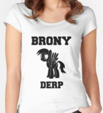 BRONY Derpy Hooves Women's Fitted Scoop T-Shirt
