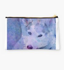 Water Color Husky Studio Pouch