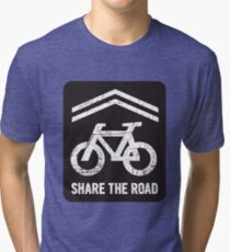 Sharrow the Road - Block Tri-blend T-Shirt