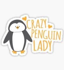 Crazy Penguin Lady  Sticker