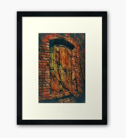 Haunted Window Framed Print