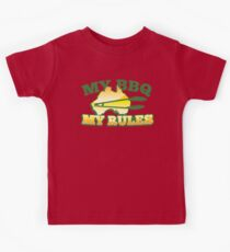 MY BBQ (barbecue) MY RULES Aussie Australian flag and tongs Kids Clothes