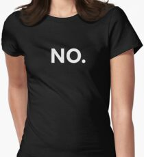NO. Women's Fitted T-Shirt