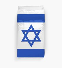 National flag of the State of Israel - high quality authentic file Duvet Cover