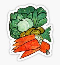 Lettuce, Carrots & Potatoes Sticker