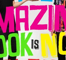 The Amazing Book Is Not On Fire Sticker