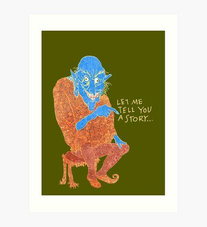 The Demon Storyteller Art Print